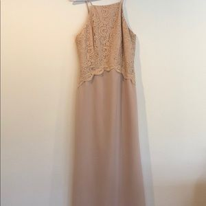 ONLY WORN ONCE BLUSH FLOOR LENGTH GOWN